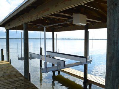 Custom Boat Lift, Aluminum Boat Lift, Brevard Count Boat Lift installation company