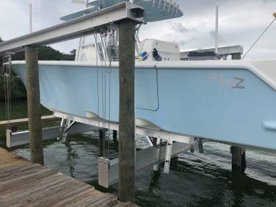 Custom aluminum boat lift