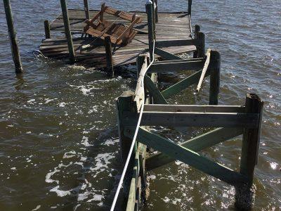 Before Dock Repair, Dock Construction, Boat Dock Contractors - Loyd Custom Marine Brevard County FL