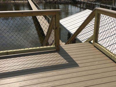 Sun deck on top of boat dock | Boat dock builder Brevard County FL